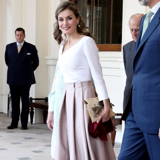 Queen Letizia Straw Clutch July 2017