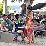 Jenna Dewan and Channing Tatum relaxed by the beach.