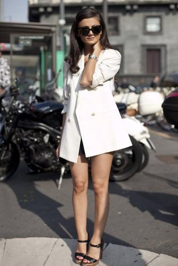 Street Style Photos from Spring 2011 Milan Fashion Week: Giovanna Battaglia, Zanna Roberts Rassi, Anna Dello Russo Among Them