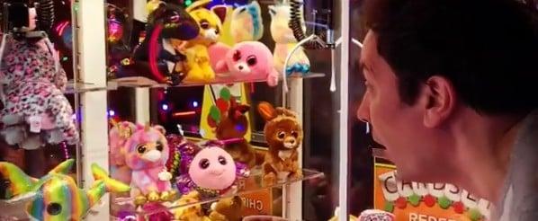 Jimmy Fallon Wins Arcade Claw Machine Game