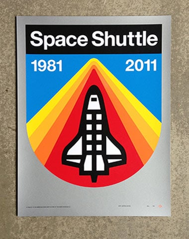 Space Shuttle Poster