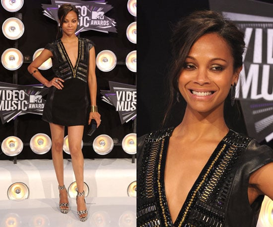 Pictures of Zoe Saldana in Barbara Bui Embellished LBD at 2011 MTV VMAs. Do we rate or hate it?