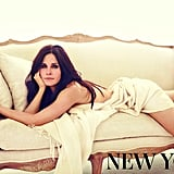 Courteney Cox lounged on a couch for New You magazine. Source: