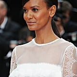At the Cannes Film Festival debut of Jeune & Jolie, model Liya Kebede wore a sleek ponytail with a sleek, deep side part.