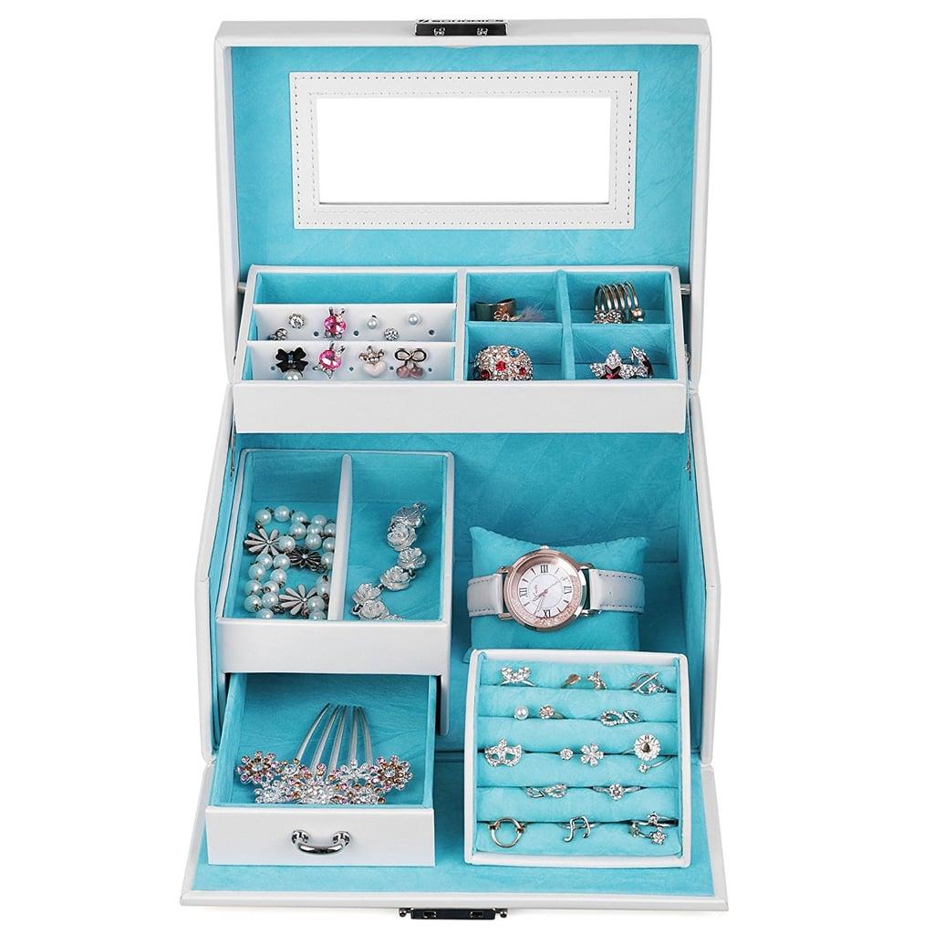 Langria Lockable Jewelry Mirror Cabinet Best Jewelry Organizers