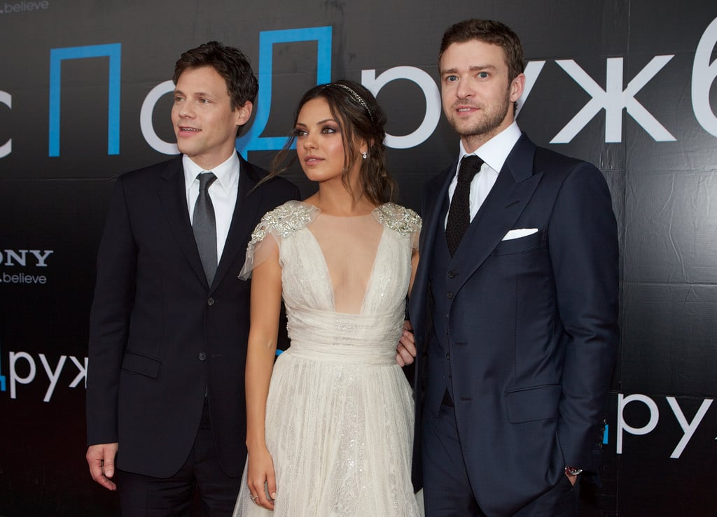 Justin Timberlake and Mila Kunis posed with director Will Gluck.