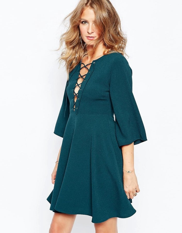 Millie Mackintosh Fluted Sleeve Dress With Strap Detailing (£85)