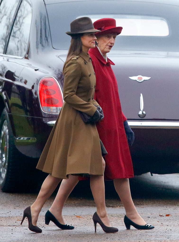 Pippa Middleton Brown Coat January  2017