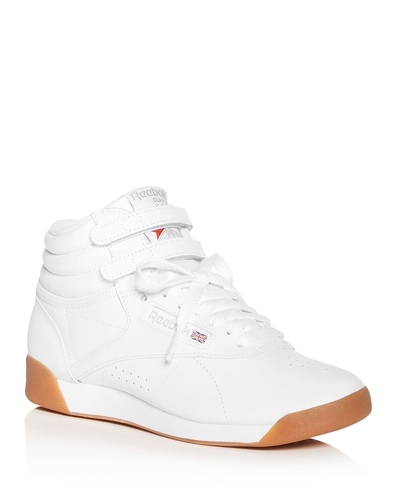 reebok white high top sneakers