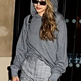 Gigi Hadid Wearing H&M Pants in Paris