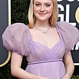 Dakota Fanning at the 2020 Golden Globes