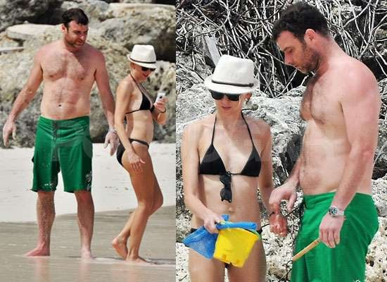 Photos of Naomi Watts in Bikini and Liev Schreiber Shirtless in Barbados
