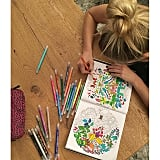 Bar Refaeli knows that coloring for adults is not only fun but also lowers stress.