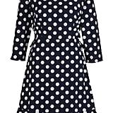 Boohoo Lilliana Polka Dot Open Back Tea Dress ($32, originally $54)