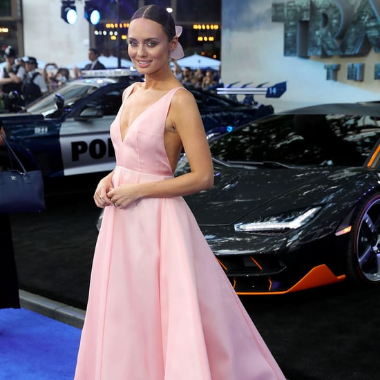 Laura Haddock Pink Emilia Wickstead Dress