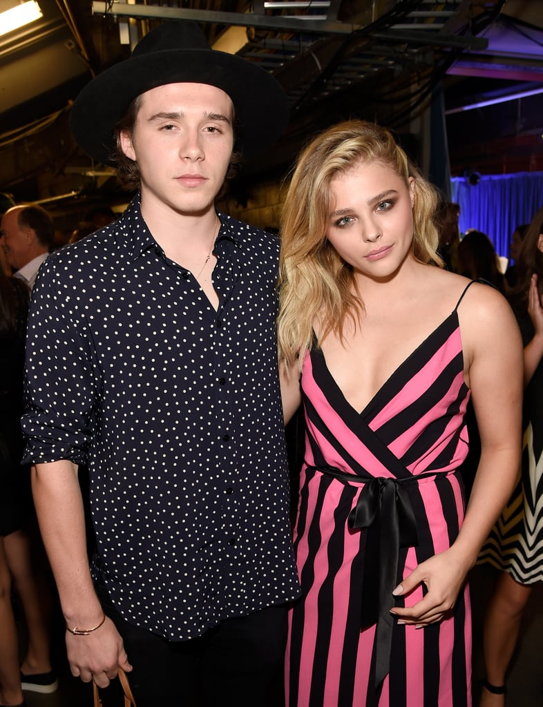 Chloë Grace Moretz took home the Teen Choice Award for choice movie actress in a comedy for her hilarious role in Neighbors 2: Sorority Rising and had the support of her boyfriend, Brooklyn Beckham. After taking the stage to thank fans for her win, Chloë headed backstage to link up with her man, and the two posed for photos together. It's just the latest in a handful of adorable moments between the young couple, who rekindled their cute romance in May.  It's been a big couple of weeks for Chloë, who not only survived a social media feud with a Kardashian but also spoke during the Democratic National Convention to urge millennials to vote. At the event, she was surprised by none other than Brooklyn, and the pair posted a sweet photo together on Instagram.