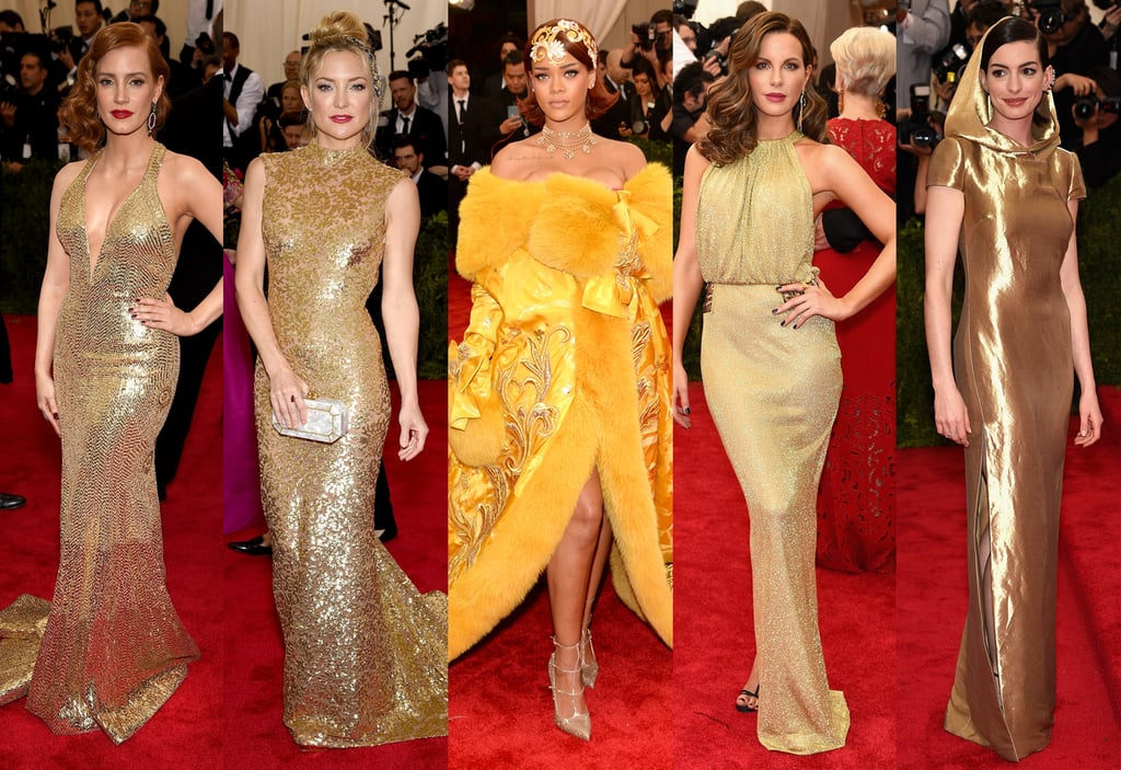 Gold Dresses at Met Gala 2015