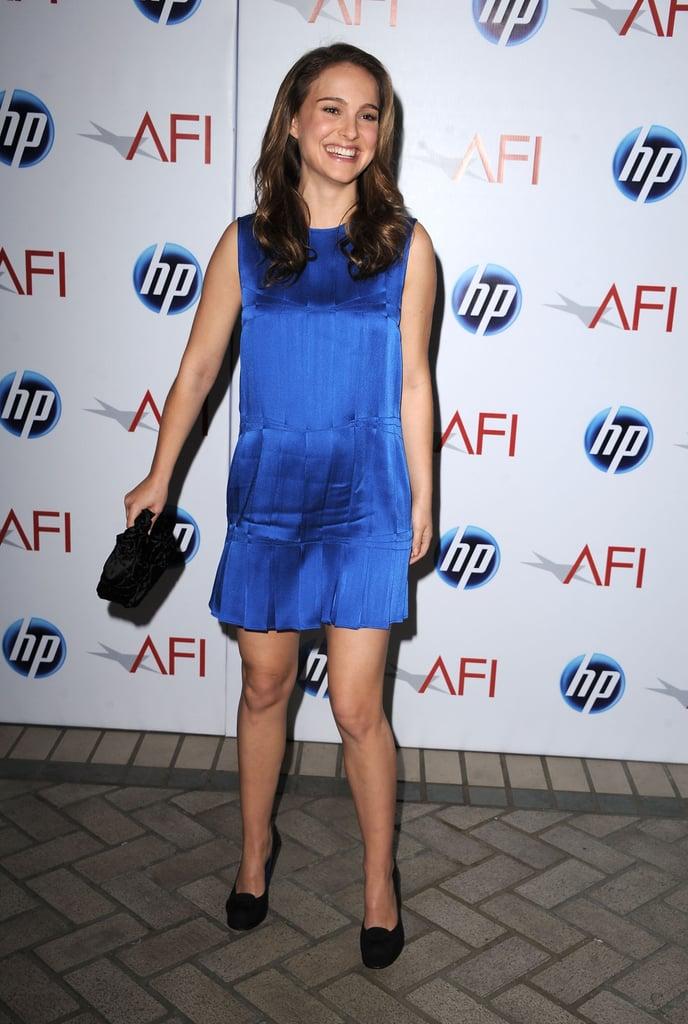 Natalie Portman in a Cobalt Mini at the 2010 AFI Awards