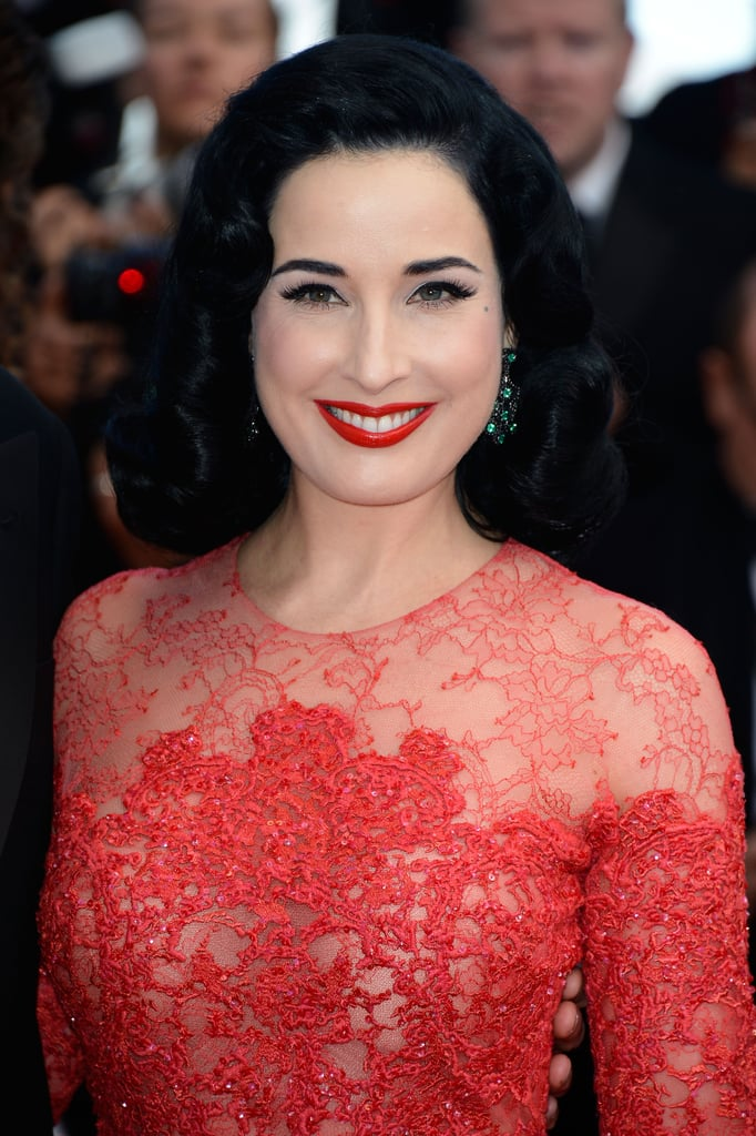 Dita Von Teese's red lips were just perfection, as always.