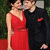Justin Bieber and Selena Gomez got glamorous for Vanity Fair's February 2011 Oscar party in LA.