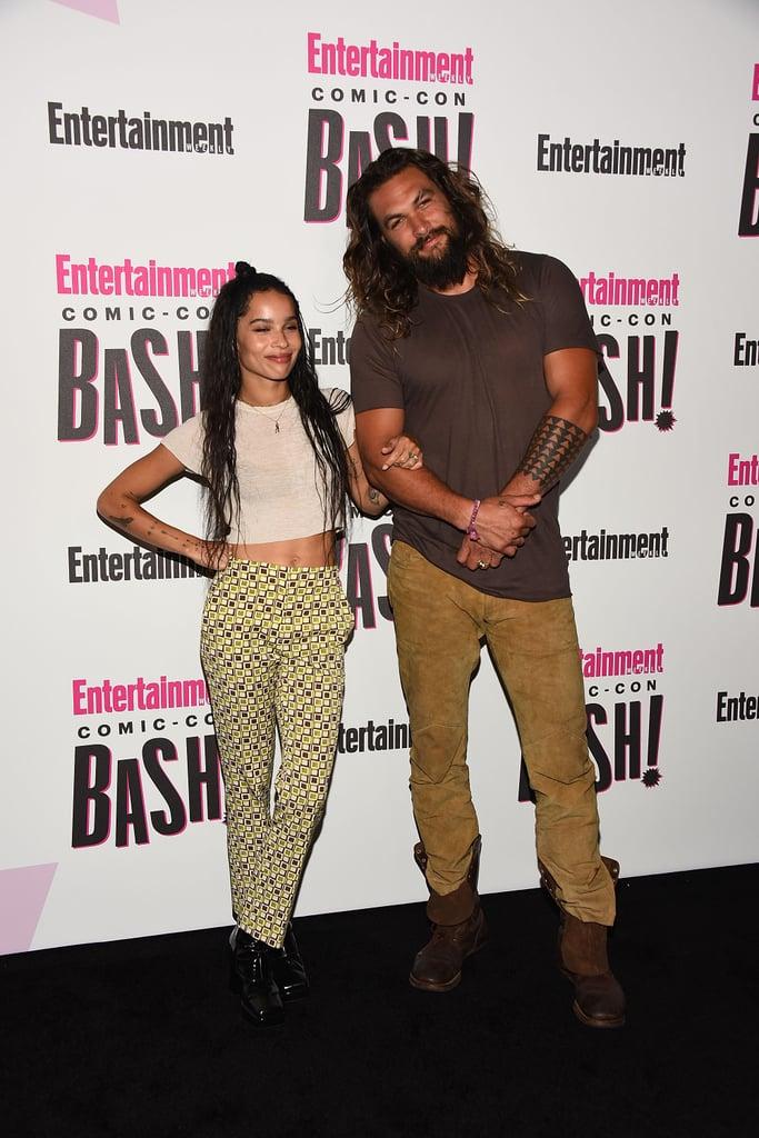 Jason Momoa and Zoë Kravitz at Comic-Con 2018