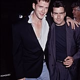 Cary Elwes and Charlie Sheen in 1990