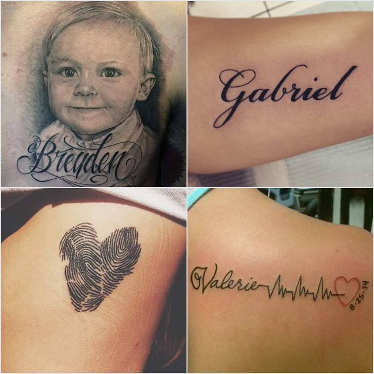 Tattoos To Represent Baby Or Child Popsugar Moms