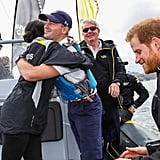 American Sailor Hugs Prince Harry at the Invictus Games 2018