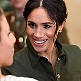 Meghan Markle Meets a Baby in Sydney October 2018