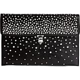 Alexander McQueen Studded Skull Closure Leather Envelope Clutch