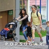 Matthew McConaughey and Camila Alves took their family on a sweet sightseeing tour in Camila's hometown of Belo Horizonte, Brazil.