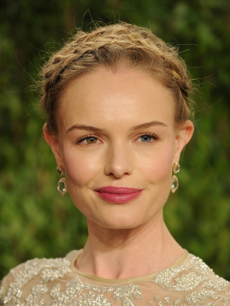 Boho and beautiful, Kate Bosworth wore a gorgeous crown of braids to the Vanity Fair Oscar Party.