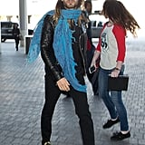 Jared Leto knows the value of a pop of color, are we right?