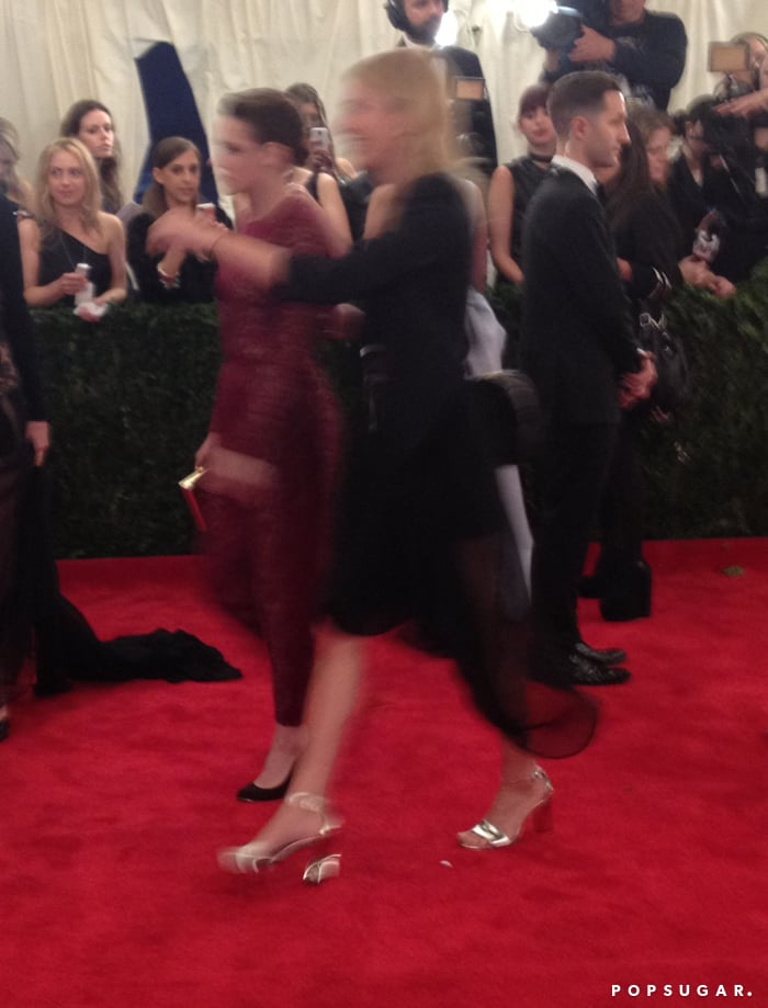 Kristen Stewart headed inside with her publicist.