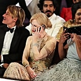 Nicole Kidman took a phone call.