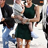 In November 2008, Victoria Beckham brought Cruz to visit Santa at The Grove in LA.