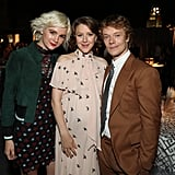 Allie Teilz, Gemma Whelan, and Alfie Allen