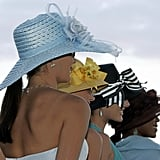 Women showed off Derby hats in 2006.