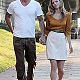 AnnaLynne McCord and Dominic Purcell happy together.