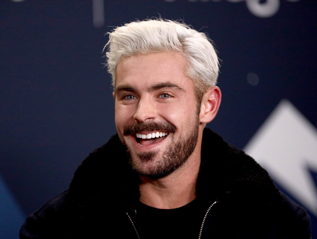 Zac Efron Platinum Blond Hair 2019 Popsugar Beauty