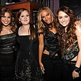 With Jordin Sparks, Leona Lewis, and Miley Cyrus.