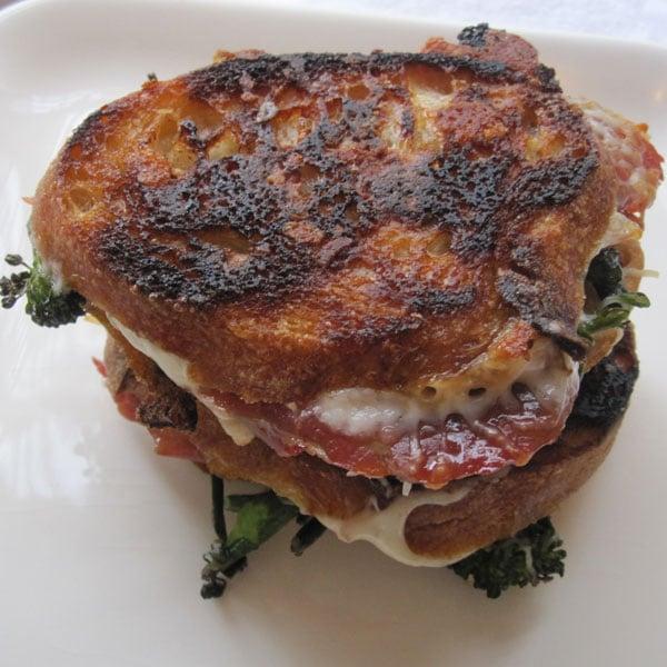 Mozzarella With Crispy Proscuitto and Broccoli Rabe