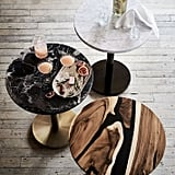 Black Marble Round Bistro Table