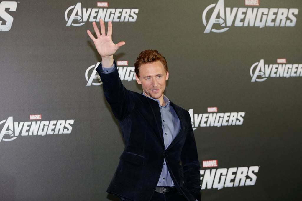 Tom Hiddleston greeted fans and photographers.