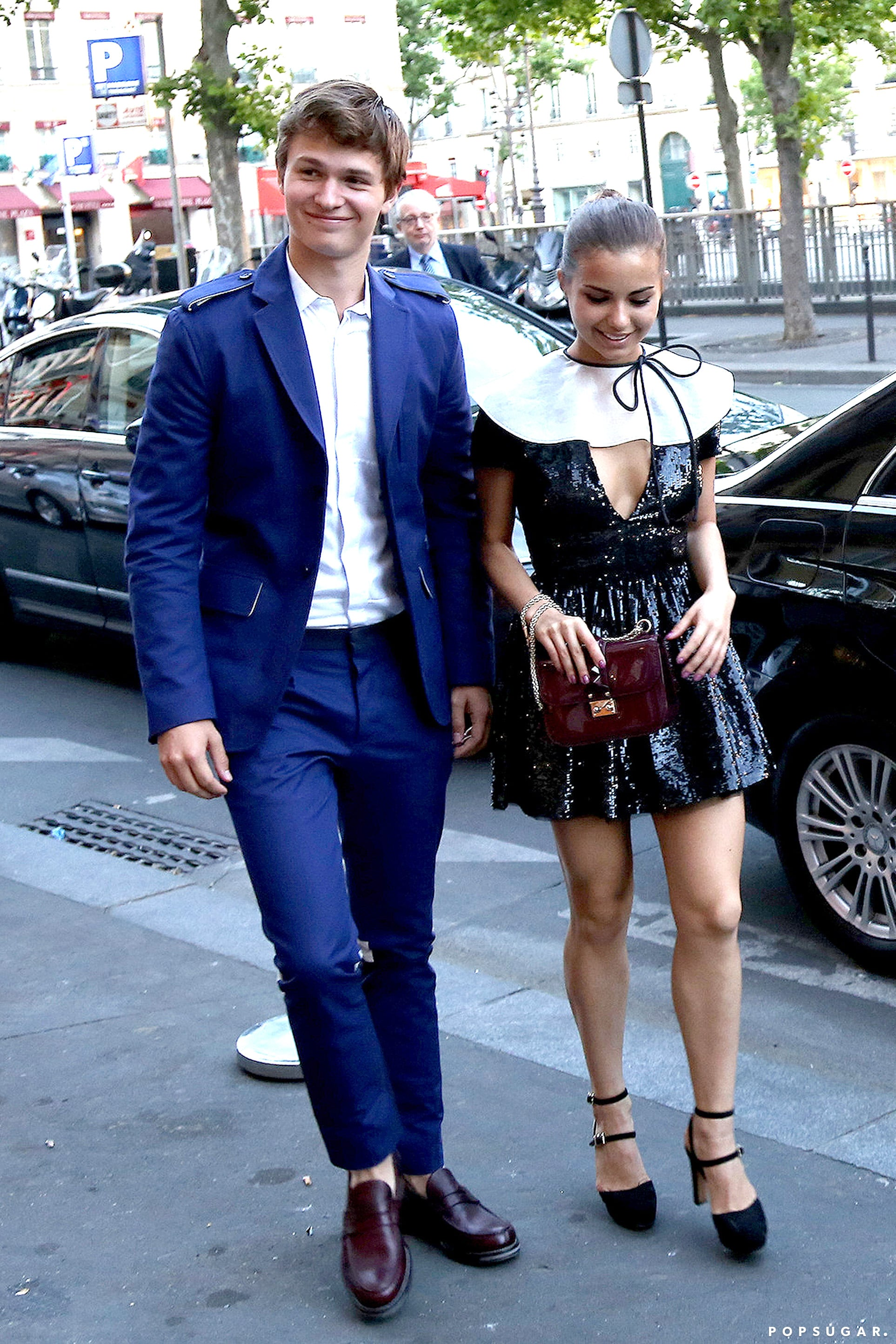 Ansel Elgort Makes a Rare Public Appearance With His Girlfriend