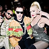 Maluma, Jeremy Scott, and Gwen Stefani