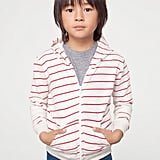 Kids Striped Fleece Zip Hoodie ($26)