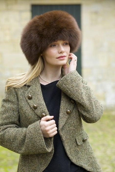Kate's Exact Lacorine Sumac  Luxury Alpaca Fur Hat