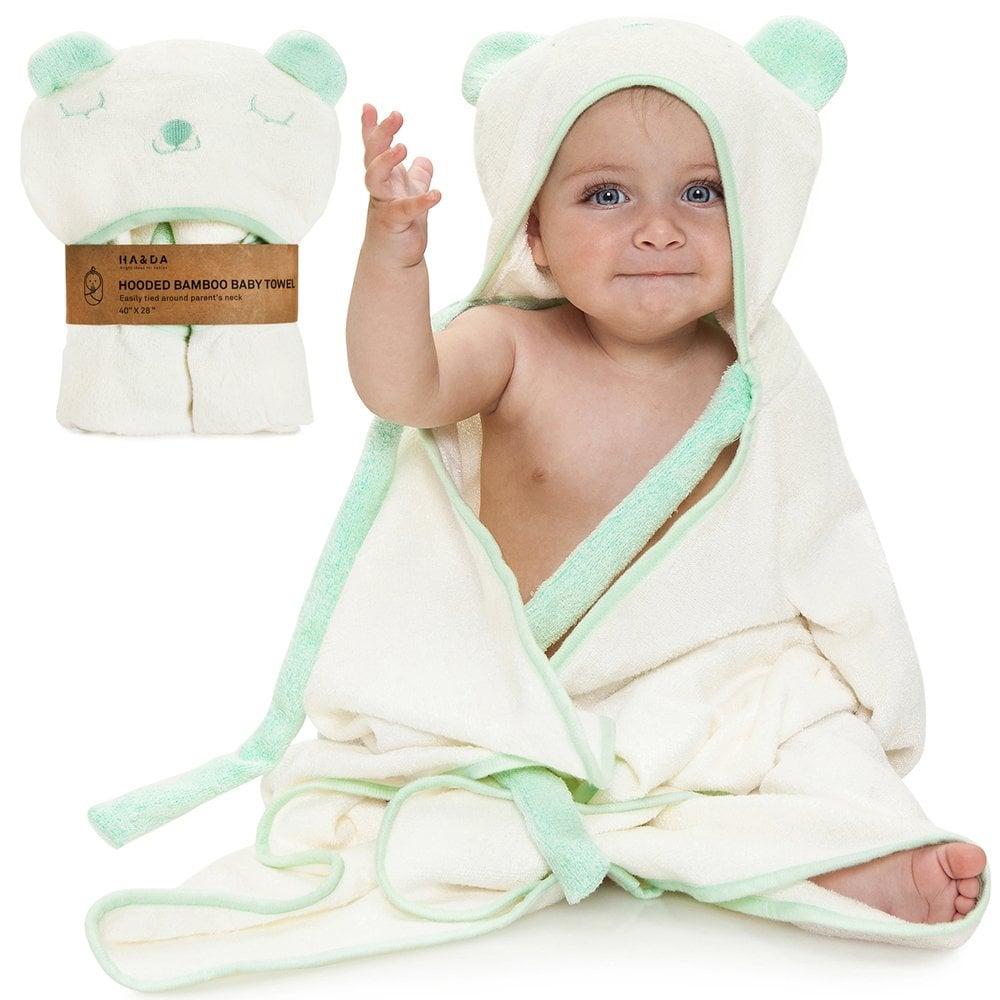 Premium Extra Soft Hooded Bamboo Baby Bath Towel