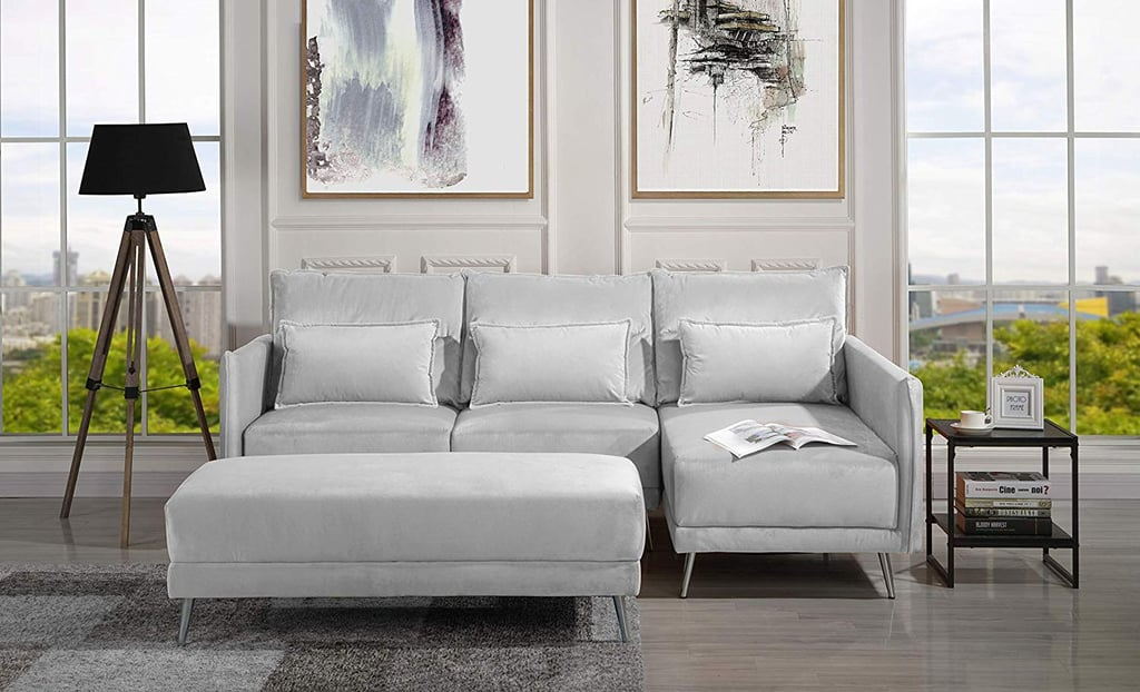 Upholstered Velvet Sectional Sofa